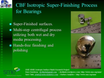 CBF Bearings Isotropic Super-Finish