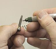 titanium screw hand deburring