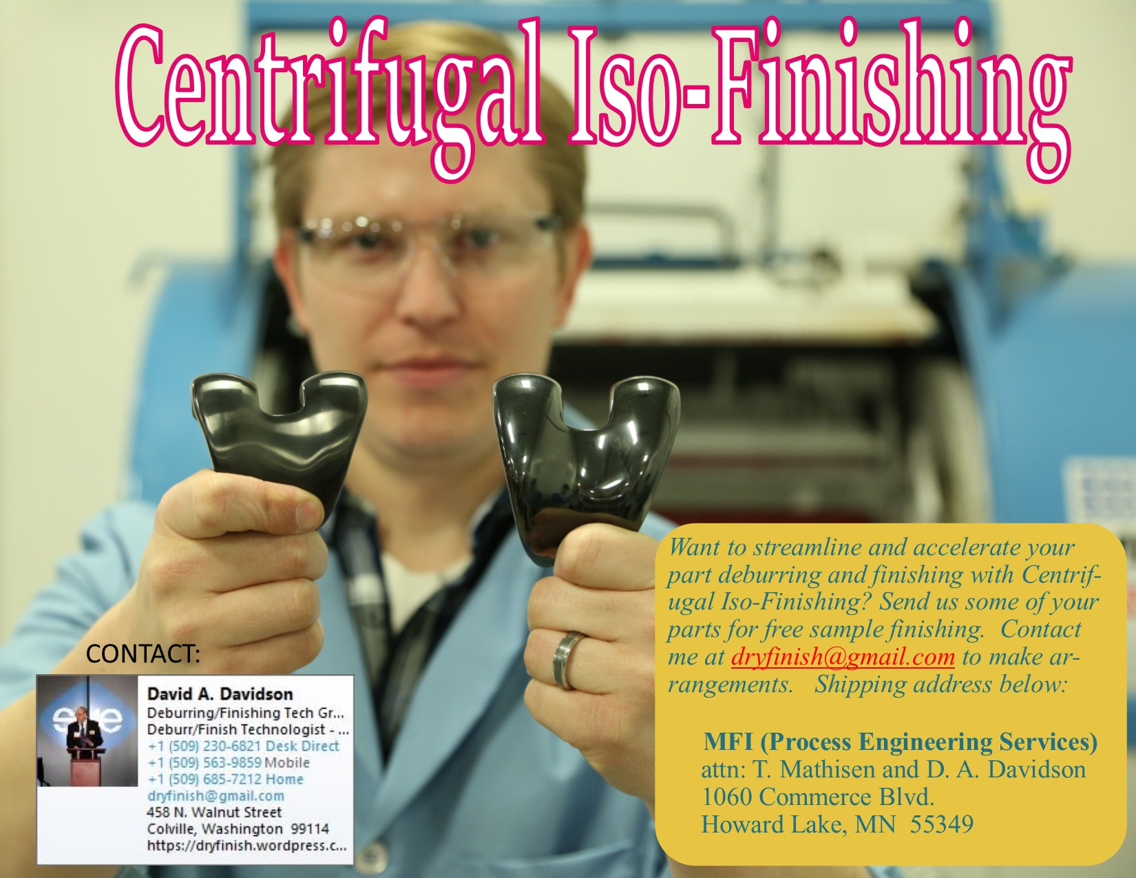 CENTRIFUGAL ISO-FINISHING: Free Sample Processing Request Form